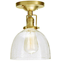 JVI Designs 1202-10-S5-CB Union Square Madison 1 Light 7 inch Satin Brass Flush Mount Ceiling Light in Clear Bubble Glass photo thumbnail