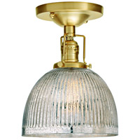 Union Square Madison 1 Light 7 inch Satin Brass Flush Mount Ceiling Light in Mercury Pressed Glass