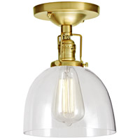 Union Square Madison 1 Light 7 inch Satin Brass Flush Mount Ceiling Light in Clear Glass