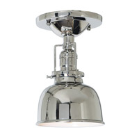 JVI Designs Union Square 1 Light Flush Mount in Polished Nickel 1202-15-M2