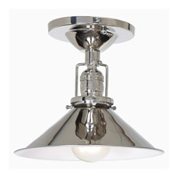 JVI Designs Union Square 1 Light Flush Mount in Polished Nickel 1202-15-M3
