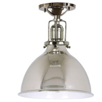 JVI Designs Union Square 1 Light Flush Ceiling Mount in Polished Nickel 1202-15-M4