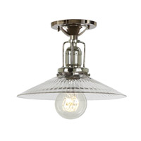 JVI Designs Union Square 1 Light Flush Mount in Polished Nickel 1202-15-S1-CR