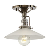 JVI Designs Union Square 1 Light Flush Mount in Polished Nickel 1202-15-S1-F