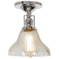 JVI Designs 1202-15-S11-CR Union Square 1 Light 7 inch Polished Nickel Flush Mount Ceiling Light