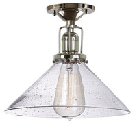Union Square 1 Light 10 inch Polished Nickel Flush Mount Ceiling Light in S2, Seeded