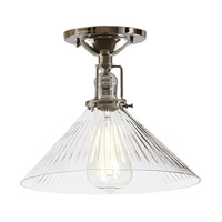JVI Designs Union Square 1 Light Flush Mount in Polished Nickel 1202-15-S2-CR