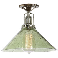 JVI Designs Union Square 1 Light Flush Ceiling Mount in Polished Nickel 1202-15-S2-LB