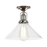 JVI Designs Union Square 1 Light Flush Mount in Polished Nickel 1202-15-S2