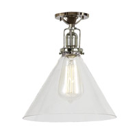 JVI Designs Union Square 1 Light Flush Mount in Polished Nickel 1202-15-S3
