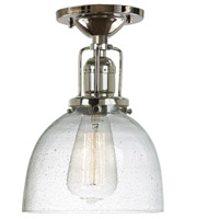 Union Square 1 Light 7 inch Polished Nickel Flush Mount Ceiling Light in S5, Seeded