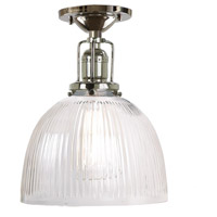 Union Square 1 Light 7 inch Polished Nickel Flush Ceiling Mount Ceiling Light in Clear Ribbed, S5