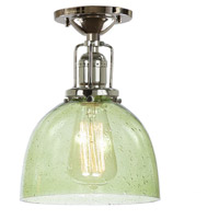 Union Square 1 Light 7 inch Polished Nickel Flush Ceiling Mount Ceiling Light in Lime Seeded, S5