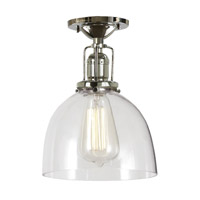 JVI Designs Union Square 1 Light Flush Mount in Polished Nickel 1202-15-S5