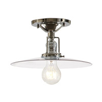 JVI Designs Union Square 1 Light Flush Mount in Polished Nickel 1202-15-S6