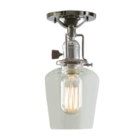 JVI Designs Union Square 1 Light Flush Mount in Polished Nickel 1202-15-S9