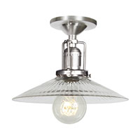 JVI Designs Union Square 1 Light Semi-Flush Mount in Pewter 1202-17-S1-CR photo thumbnail
