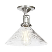 JVI Designs Union Square 1 Light Semi-Flush Mount in Pewter 1202-17-S2-CR