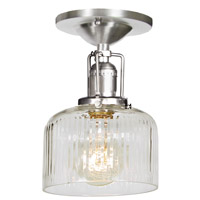 JVI Designs 1202-17-S4-CR Union Square 1 Light 5 inch Pewter Flush Mount Ceiling Light photo thumbnail