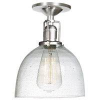 Union Square 1 Light 7 inch Pewter Flush Mount Ceiling Light in S5, Seeded