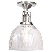 JVI Designs 1202-17-S5-CR Union Square 1 Light 7 inch Pewter Flush Mount Ceiling Light in Clear Ribbed, S5 photo thumbnail