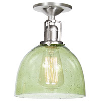 Union Square 1 Light 7 inch Pewter Flush Ceiling Mount Ceiling Light in Lime Seeded, S5
