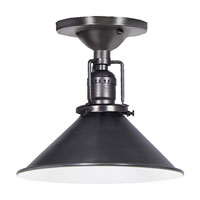 JVI Designs 1202-18-M3 Union Square 1 Light 8 inch Gun Metal Flush Mount Ceiling Light photo thumbnail