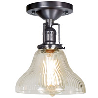 JVI Designs 1202-18-S11-CR Union Square 1 Light 7 inch Gun Metal Flush Mount Ceiling Light