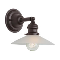 JVI Designs Union Square 1 Light Wall Sconce in Oil Rubbed Bronze 1210-08-S1-F
