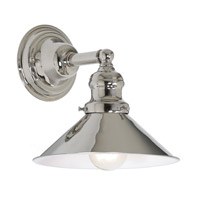 JVI Designs Union Square 1 Light Wall Sconce in Polished Nickel 1210-15-M3