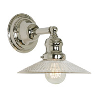 JVI Designs Union Square 1 Light Wall Sconce in Polished Nickel 1210-15-S1-CR