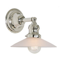 JVI Designs Union Square 1 Light Wall Sconce in Polished Nickel 1210-15-S1-F