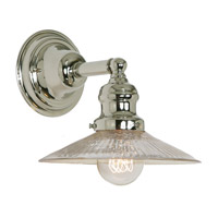 JVI Designs Union Square 1 Light Wall Sconce in Polished Nickel 1210-15-S1-SR