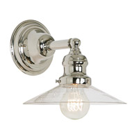 JVI Designs Union Square 1 Light Wall Sconce in Polished Nickel 1210-15-S1