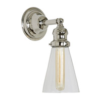 JVI Designs Union Square 1 Light Wall Sconce in Polished Nickel 1210-15-S10