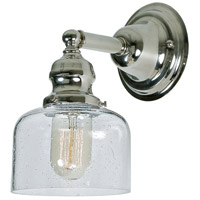 JVI Designs 1210-15-S4-CB Union Square 1 Light 5 inch Polished Nickel Wall Sconce Wall Light photo thumbnail
