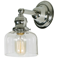 JVI Designs 1210-15-S4 Union Square 1 Light 5 inch Polished Nickel Wall Sconce Wall Light photo thumbnail