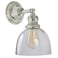 Union Square 1 Light 7 inch Polished Nickel Wall Sconce Wall Light in Seeded, S5
