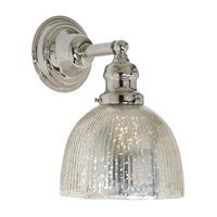 JVI Designs Union Square 1 Light Wall Sconce in Polished Nickel 1210-15-S5-SR