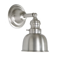 JVI Designs Union Square 1 Light Wall Sconce in Pewter 1210-17-M2