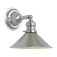JVI Designs Union Square 1 Light Wall Sconce in Pewter 1210-17-M3