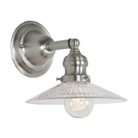 JVI Designs Union Square 1 Light Wall Sconce in Pewter 1210-17-S1-CR