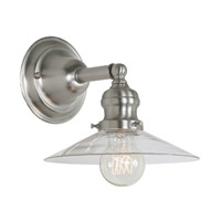JVI Designs Union Square 1 Light Wall Sconce in Pewter 1210-17-S1