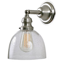 Union Square 1 Light 7 inch Pewter Wall Sconce Wall Light in Seeded, S5