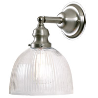 Union Square 1 Light 7 inch Pewter Wall Sconce Wall Light in Clear Ribbed, S5