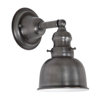 JVI Designs Union Square 1 Light Wall Sconce in Gun Metal 1210-18-M2