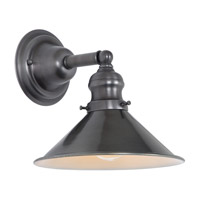 JVI Designs Union Square 1 Light Wall Sconce in Gun Metal 1210-18-M3