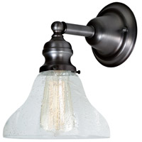 JVI Designs 1210-18-S11-CB Union Square 1 Light 7 inch Gun Metal Wall Sconce Wall Light photo thumbnail