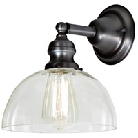 JVI Designs 1210-18-S12 Union Square 1 Light 8 inch Gun Metal Wall Sconce Wall Light photo thumbnail