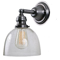Union Square 1 Light 7 inch Gun Metal Wall Sconce Wall Light in Seeded, S5